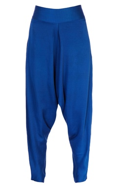 blue cowl dhoti pants