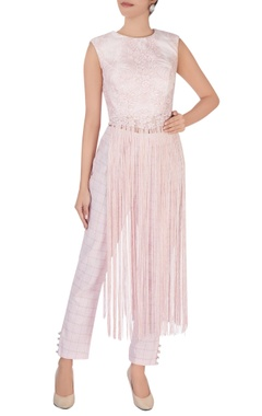 Pink tassel blouse & pants