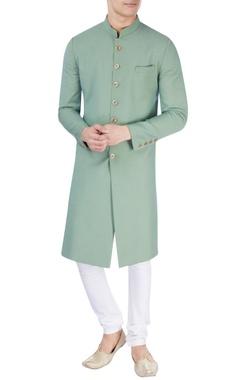 Pastel green sherwani