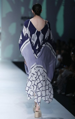 Multicolored batik print kaftan