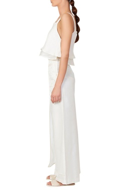 White double layer cami top & pants