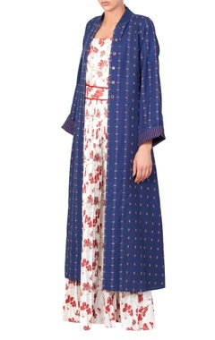 Blue floral maxi dress & jacket