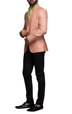 Salmon pink textured jacket