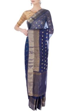 Blue kota silk sari & blouse
