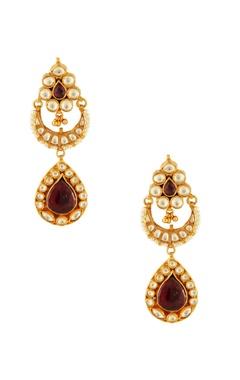 Multicolored dangling earrings