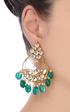 Gold & white pearl earrings