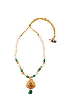 Multi colored stone and pearl necklace