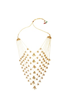 White multiple tiered necklace