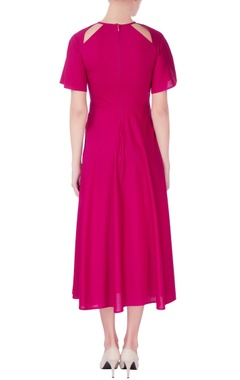 Pink cutout style dress