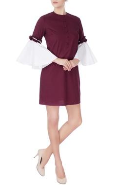 Manika Nanda Purple & white midi dress