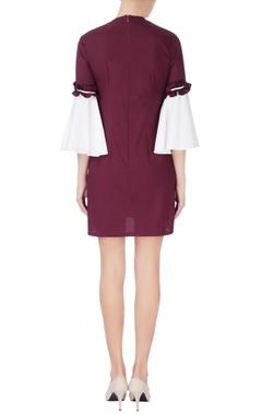 Purple & white midi dress