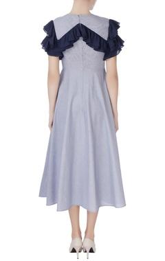 Blue layered retro dress