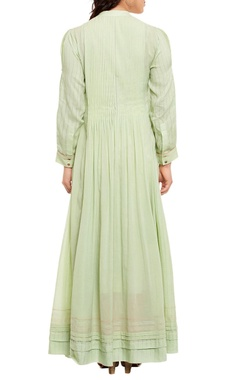 light green pleated kurta