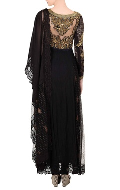 Black & gold sequin kurta set