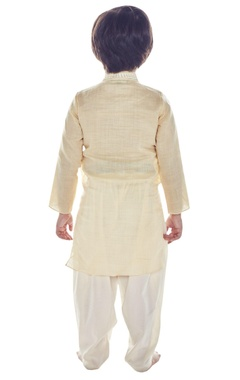 Beige mirror work kurta