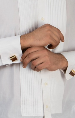 Gold swarosvki crystal cufflinks