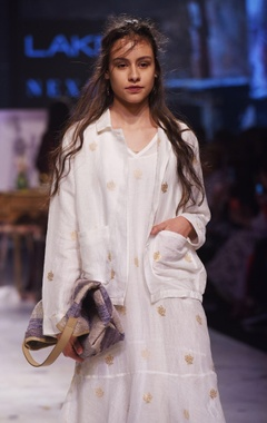 white hand woven banarasi jacket