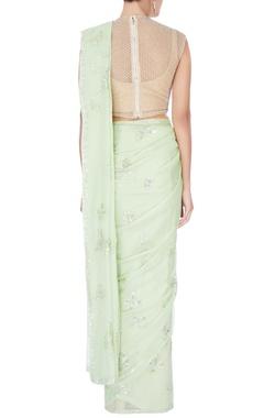 green sequin sari & blouse