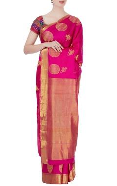pink mulberry silk sari