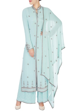 Anushka Khanna Mint blue embroidered kurta set