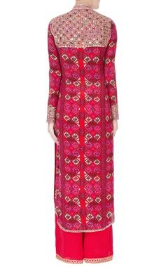 Pink printed kurta & palazzos