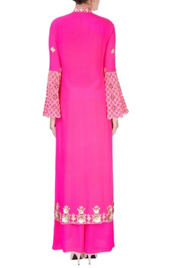 Pink embellished kurta set