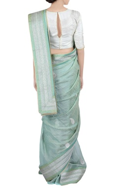 light green mango butta sari & blouse