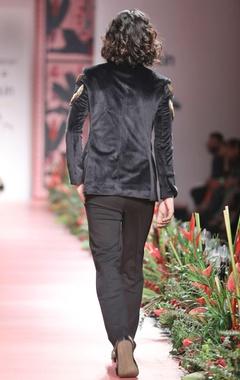 Black embellished bandhgala