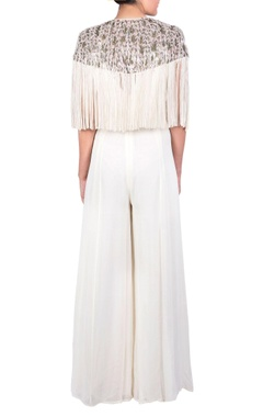 off-white tassel style jumpsuit