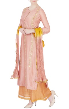 Rose pink gota embroidered kurta set