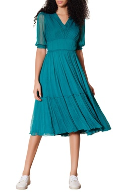 Teal green sweetheart dress