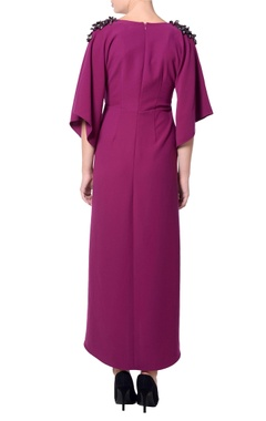 Purple kimono sleeves dress