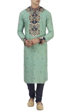 Barkha 'N' Sonzal Green & blue turkish pattern kurta