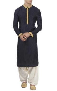 Barkha 'N' Sonzal Navy blue kurta & patiala pants