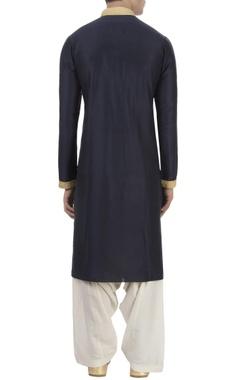 navy blue kurta & patiala pants