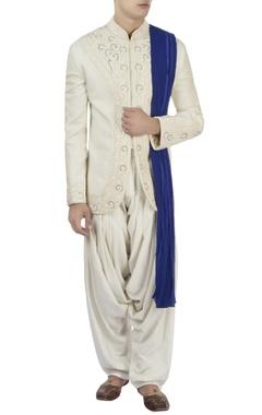 Barkha 'N' Sonzal White bandhgala & white patiala pants