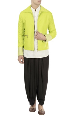 green zipper dory embroidered jacket