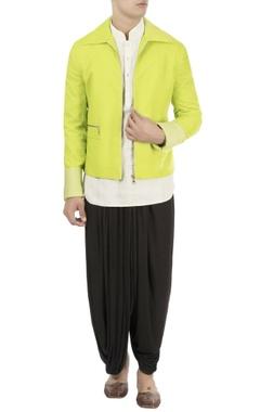 Barkha 'N' Sonzal Green zipper dory embroidered jacket