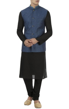 Bubber Couture - Men Blue & grey reversible style jacket