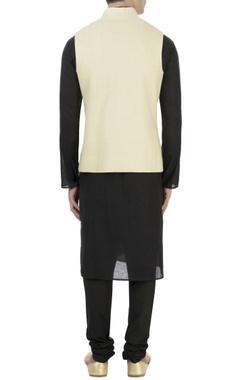 Beige herringbone matka silk jacket