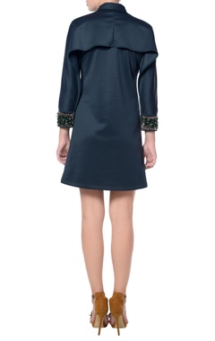 Black shirt dress with embellished sleeves
