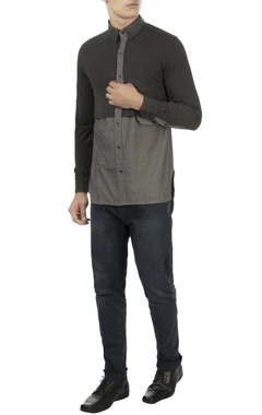 Vaibhav Singh Grey color block shirt