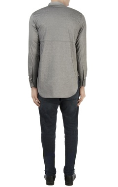 Grey high collar shirt