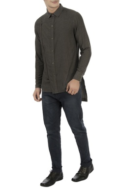Vaibhav Singh Brown zipper style shirt
