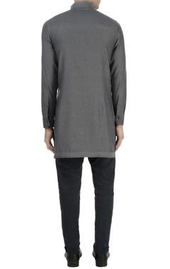 Grey zipper style shirt