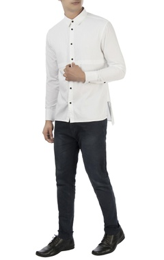 Vaibhav Singh White oxford formal shirt