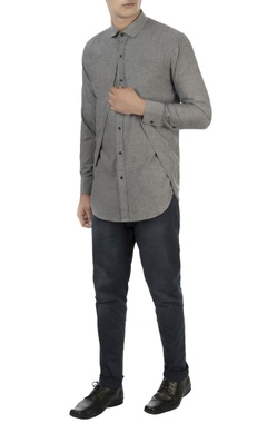 Vaibhav Singh Light grey shirt with cutout layer