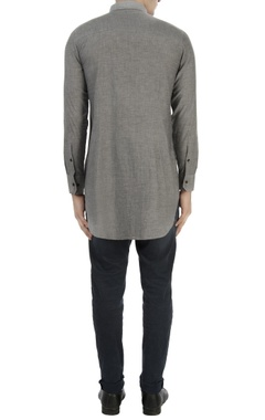 Light grey shirt with cutout layer