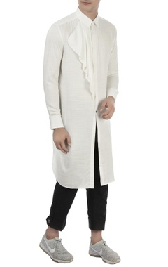 Vaibhav Singh White cotton long kurta