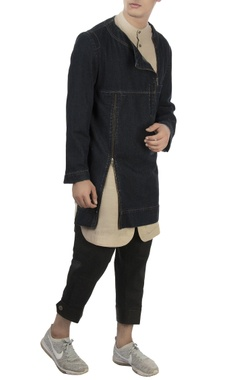 Vaibhav Singh Navy blue denim kurta